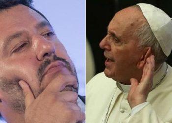 Papa Francesco rifiuta l'incontro con Matteo Salvini