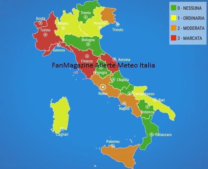 Meteo Cartina Italia.Allerta Meteo Italia Dal 16 Al 22 Dicembre 2019 Fanmagazine