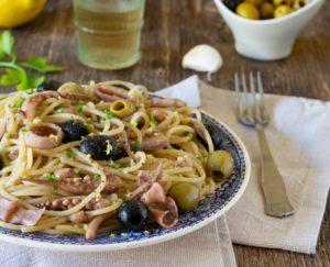 ricetta linguine calamari